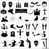 36 halloween icons. Collection of 36 halloween icons Stock Image