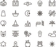 Halloween icons Stock Photography