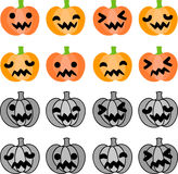 The halloween icons Royalty Free Stock Photography