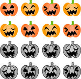 The halloween icons Stock Photography