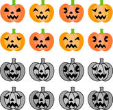 The halloween icons Royalty Free Stock Photo