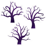 Halloween icons / dead tree. Halloween icons by watercolor paint touch royalty free illustration
