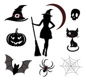 Halloween icons and emblems Stock Images