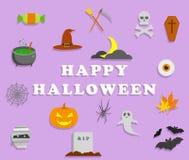 Halloween icons. Flat design Vector Illustration. Halloween icons set. Flat design Vector Illustration Stock Photo