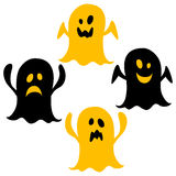Halloween icons / ghost. Simple and cute halloween vector icons stock illustration