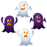 Halloween icons / ghost. Halloween icons by watercolor paint touch stock illustration