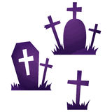Halloween icons / grave. Halloween icons by watercolor paint touch vector illustration