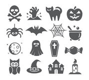 Halloween icons Stock Image