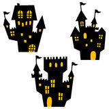 Halloween icons / haunted mansion. Simple and cute halloween vector icons stock illustration