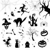 Halloween Icons Royalty Free Stock Photos