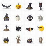 Halloween icons. This image is a vector illustration Royalty Free Stock Photo