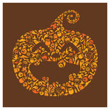 Halloween icons - Jack O Lantern Royalty Free Stock Images