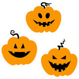 Halloween icons / jack-o-lantern. Simple and cute halloween vector icons vector illustration