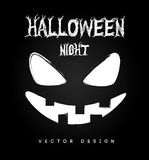 Halloween. Icons over black background vector illustration Stock Photos