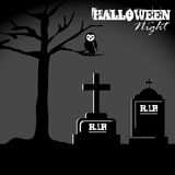 Halloween. Icons over black background vector illustration Stock Images