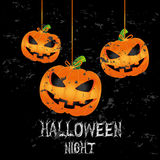 Halloween. Icons over black background vector illustration Royalty Free Stock Image