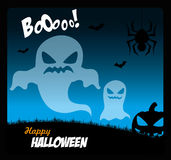 Halloween. Icons over sky background vector illustration Stock Images