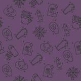 Halloween icons pattern Stock Photo