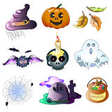 Vector Halloween Icons Royalty Free Stock Photos