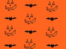 Halloween icons with pumpkins and bats Royalty Free Stock Image