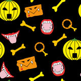 The halloween icons seamless Royalty Free Stock Images