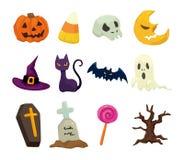 Halloween icons set Stock Photography