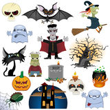 Halloween icons set. Isolated on white background Royalty Free Stock Photo