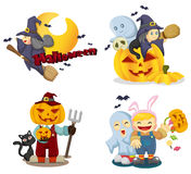 Halloween icons set Royalty Free Stock Photo