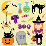Halloween icons set Royalty Free Stock Photos