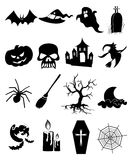 Halloween icons set Stock Images