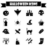 Halloween icons set Stock Photos