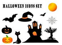 Halloween icons set. Set of Halloween icons for decoration Stock Photo