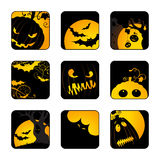 Halloween icons set. Stock Image
