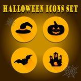Halloween icons set. Set of Halloween flat icons for decoration Stock Image