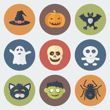 Halloween Icons Set Royalty Free Stock Images