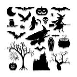 Halloween icons set great for any use. Vector EPS10. Royalty Free Stock Image