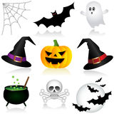 Halloween Icons. Set of Halloween Holiday Icons Royalty Free Stock Image