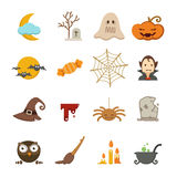 Halloween icons set. Illustration of halloween icons set Stock Photography