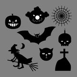 Halloween icons set isolated. Design Royalty Free Stock Photo
