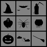 Halloween Icons. Set of Icons on a theme halloween Royalty Free Stock Image