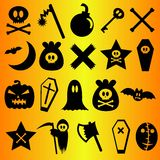 Halloween icons set Royalty Free Stock Photography