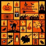 Halloween icons set. Stock Photos
