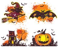 Halloween icons set. Vector Design elements for a holiday. Royalty Free Stock Image
