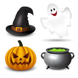 Halloween icons-set Royalty Free Stock Photos