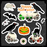Halloween icons set Stock Photo