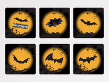 Halloween icons set,  wallpaper Stock Photography