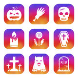 Halloween icons set Stock Image