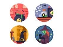 Halloween icons set Stock Image