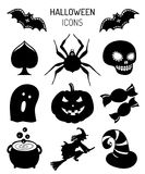Halloween icons, signs. Vector illustrations of October 31 night. All Saints Day elements collection Royalty Free Stock Image