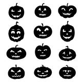 Halloween Icons silhouettes- Royalty Free Stock Image